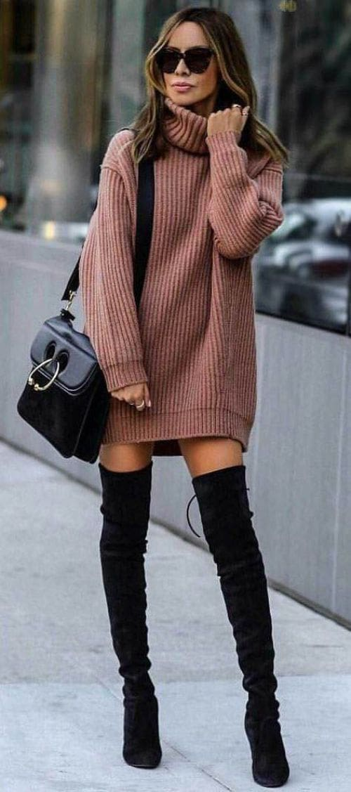 The Best Plus Size Autumn Winter High Collar Lady Loose Long section Sweater Online - Hplify
