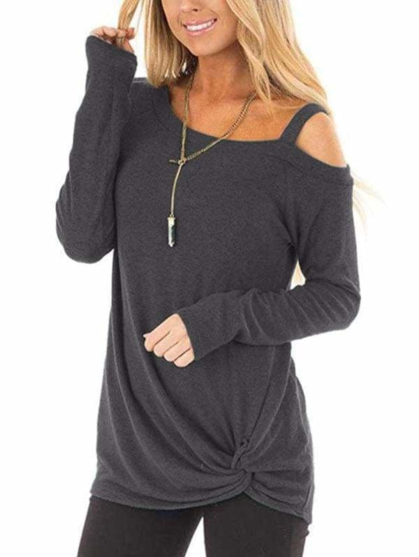 The Best Plus Size Long Sleeve Tshirts One Shoulder T-Shirt Online - Hplify