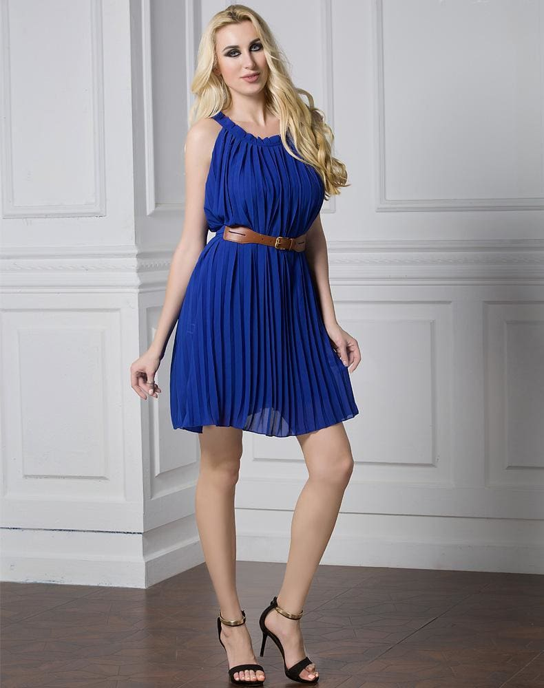 The Best Plus Size Summer Style Women's Pleated Chiffon Dresses Casual Dress Online - Source Silk