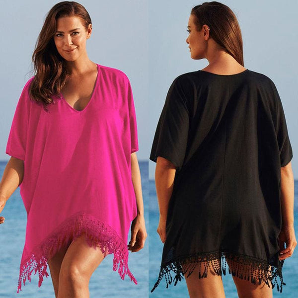 The Best Plus Size Women's Lady Sexy Bathing Suit Crochet Summer Bikini Swimwear Beachwear Cover Up Beach Dress Online - Hplify