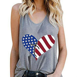 The Best Print Vest Cami Tops Tees Sleeveless Blouse Ladies Casual Loose Tank Tops Online - Hplify