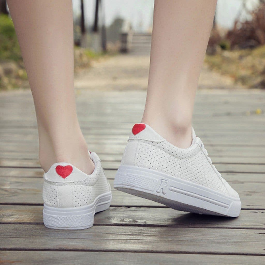 The Best Running Shoes For Women Lace-up Breathable Mesh Fitness Sports Shoes Online - Source Silk