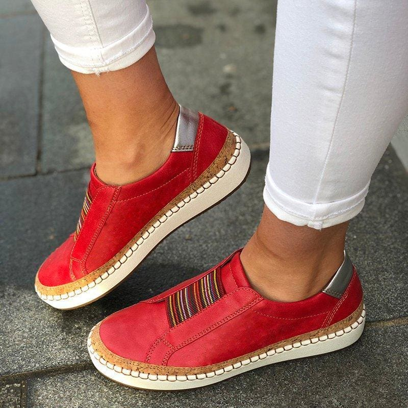 The Best Slide Elastic Band Round Toe Casual Women Sneakers Online - Hplify