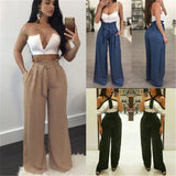 The Best Style Fashion Women's Loose Stretch High Waist Wide Leg Long Pants Online - Source Silk