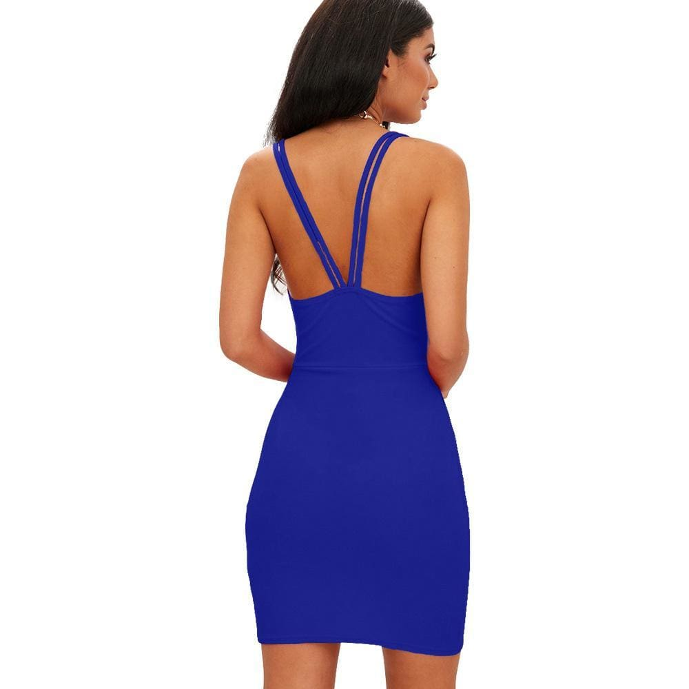 The Best Summer Beach Dress Casual Lady Backless Slim Short Dress Online - Source Silk