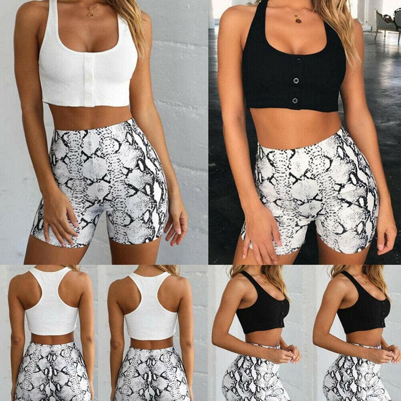 The Best Summer Casual Tops Sport Fitness Stretch Workout Short Tank Top Online - Hplify