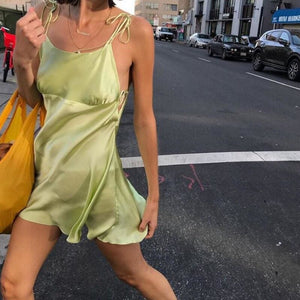 Buy Cheap Summer Fashion Women's Bandage Bodycon Sleeveless Backless Sleepwear Party Club Slim Mini Dress Nightwear Online - Hplify