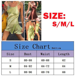 Summer Fashion Women's Bandage Bodycon Sleeveless Backless Sleepwear Party Club Slim Mini Dress Nightwear - Hplify