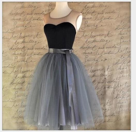 Tulle Skirt for Girls Fashion Tutu Skirts Women Solid Lace Ball Gown - Gray / One Size - Bottoms