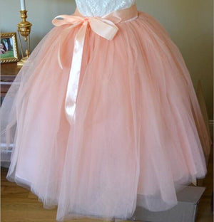 Tulle Skirt for Girls Fashion Tutu Skirts Women Solid Lace Ball Gown - Pink / One Size - Bottoms