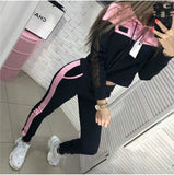 The Best Two Piece Set Hoodies Suit Women Tracksuit Autumn Winter Long Sleeve Sweatshirt Top and Pants Suit Ladies Outfit Streetwear Online - Source Silk