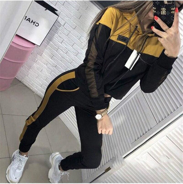The Best Two Piece Set Hoodies Suit Women Tracksuit Autumn Winter Long Sleeve Sweatshirt Top and Pants Suit Ladies Outfit Streetwear Online - Hplify