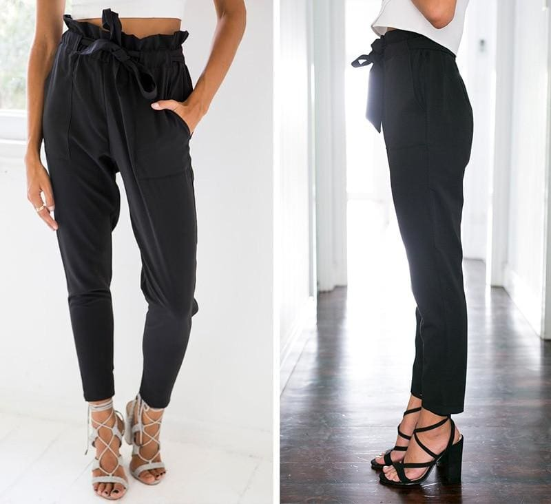 The Best Up Pencil Pants Women Trousers High Waist Streetwear Vintage Pant Online - Source Silk