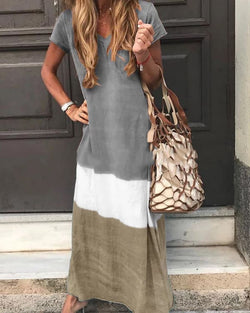The Best V Neck Casual Short Sleeve Maxi Dresses Online - Hplify