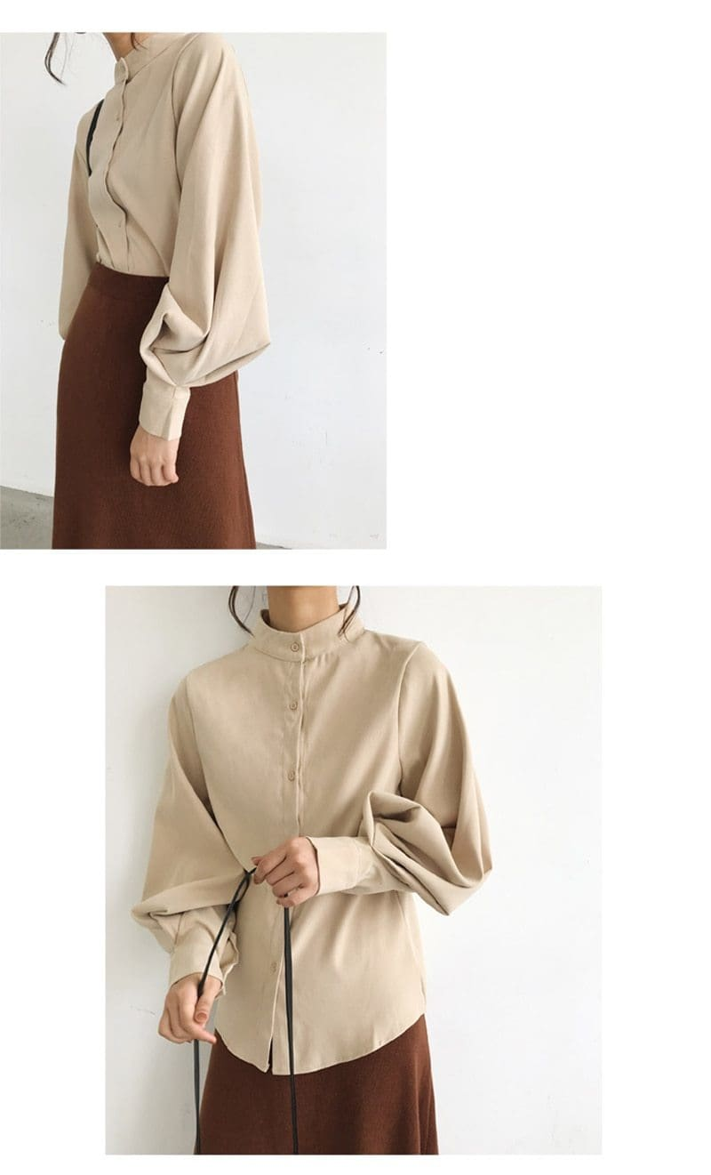 The Best Vintage Lantern Sleeve Autumn Winter Thicken Women Blouses Online - Hplify