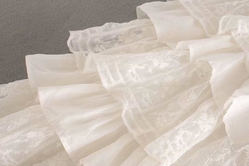 The Best White Dress Lace Condole Belt Party Embroidery Summer Mini Women Dress Online - Hplify