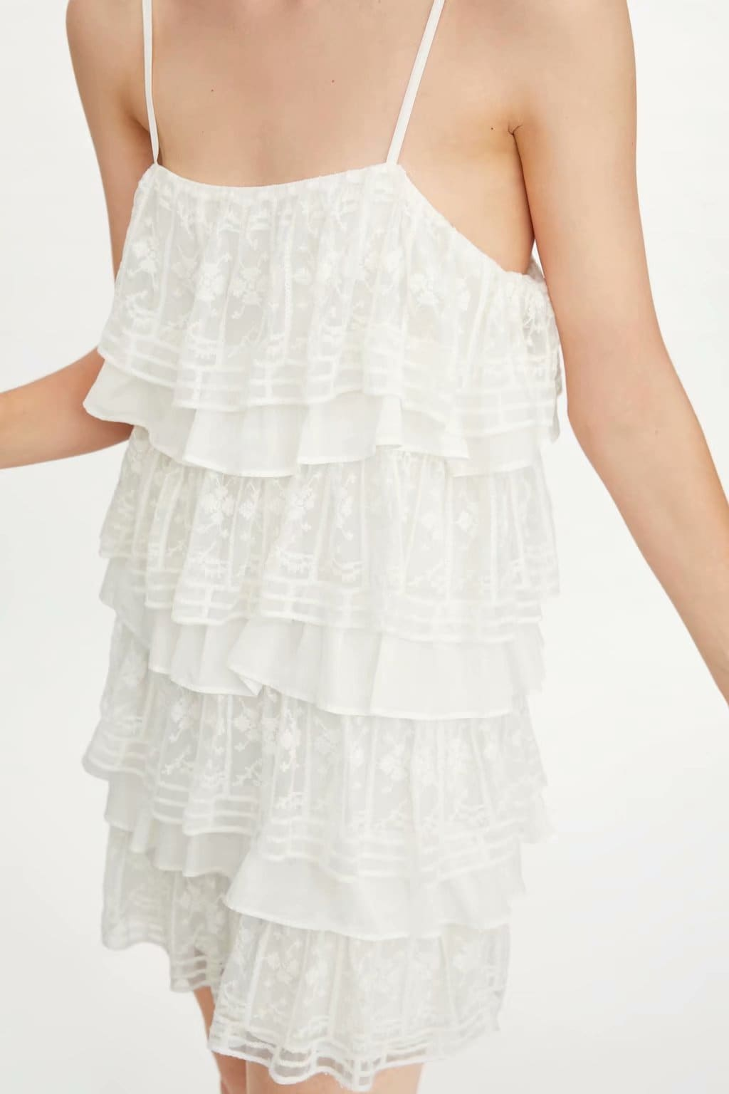 The Best White Dress Lace Condole Belt Party Embroidery Summer Mini Women Dress Online - Source Silk