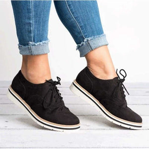 Buy Cheap Womans Rubber Brogue Shoes Flat Shoes Large Size Online - Hplify