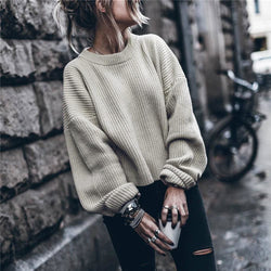 The Best Women Autumn Winter Sweater Plus Size Turtleneck Elegant Slim sweaters Online - Hplify
