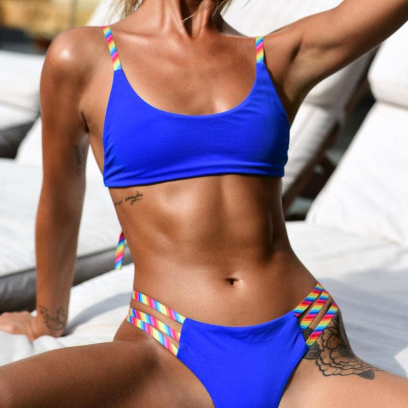 The Best Women Bandage Push Up Padded Bikini Set Bra Swimwear Swimsuit Online - Hplify