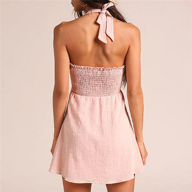 The Best Women Beach Bandage Bow Dress Bodycon Backless Party Dress Online - Source Silk