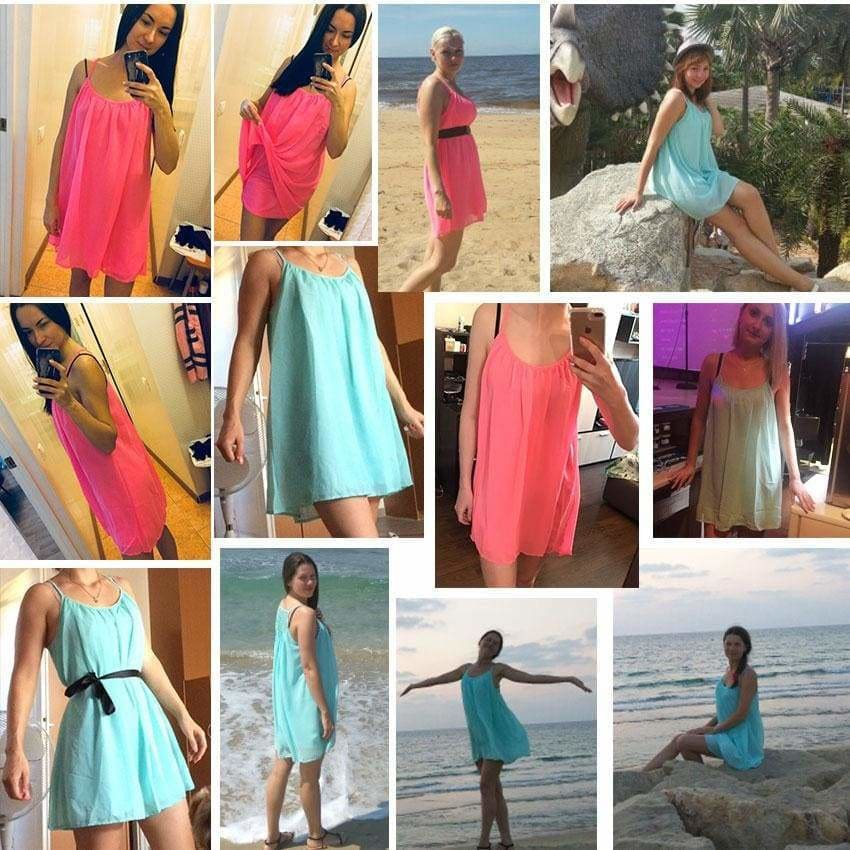 Buy Cheap Women Beach Dress Fluorescence Chiffon Voile Women Dresses Plus Size Online - Hplify