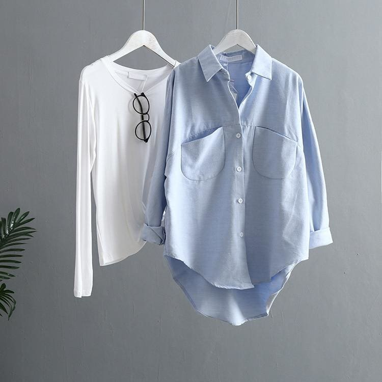 The Best Women Blouse Korean Long Sleeve Tops And Vintage Women Shirts Online - Hplify
