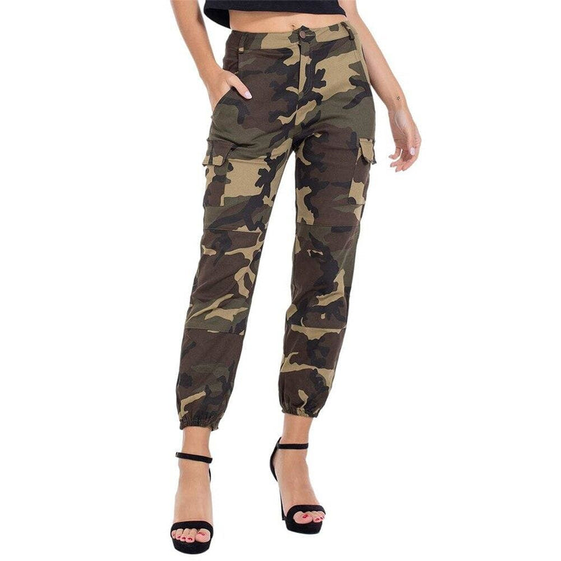 The Best Women Camouflage Camo Cargo Trousers Army Pants Ladies Casual Harem Joggers Sport Sweatpants Hip Hop Rock Trousers Online - Hplify
