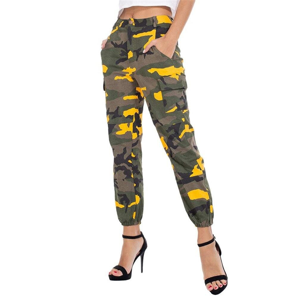 The Best Women Camouflage Camo Cargo Trousers Army Pants Ladies Casual Harem Joggers Sport Sweatpants Hip Hop Rock Trousers Online - Source Silk