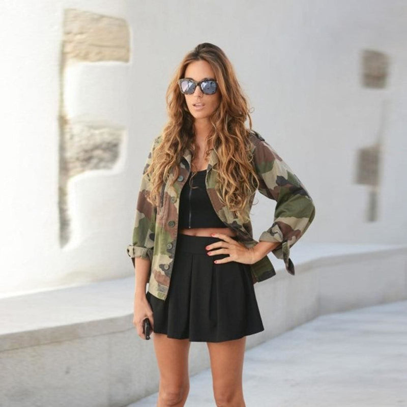 The Best Women Fashion Camouflage Jacket Coat Autumn Winter Casual Street jacket Online - Hplify