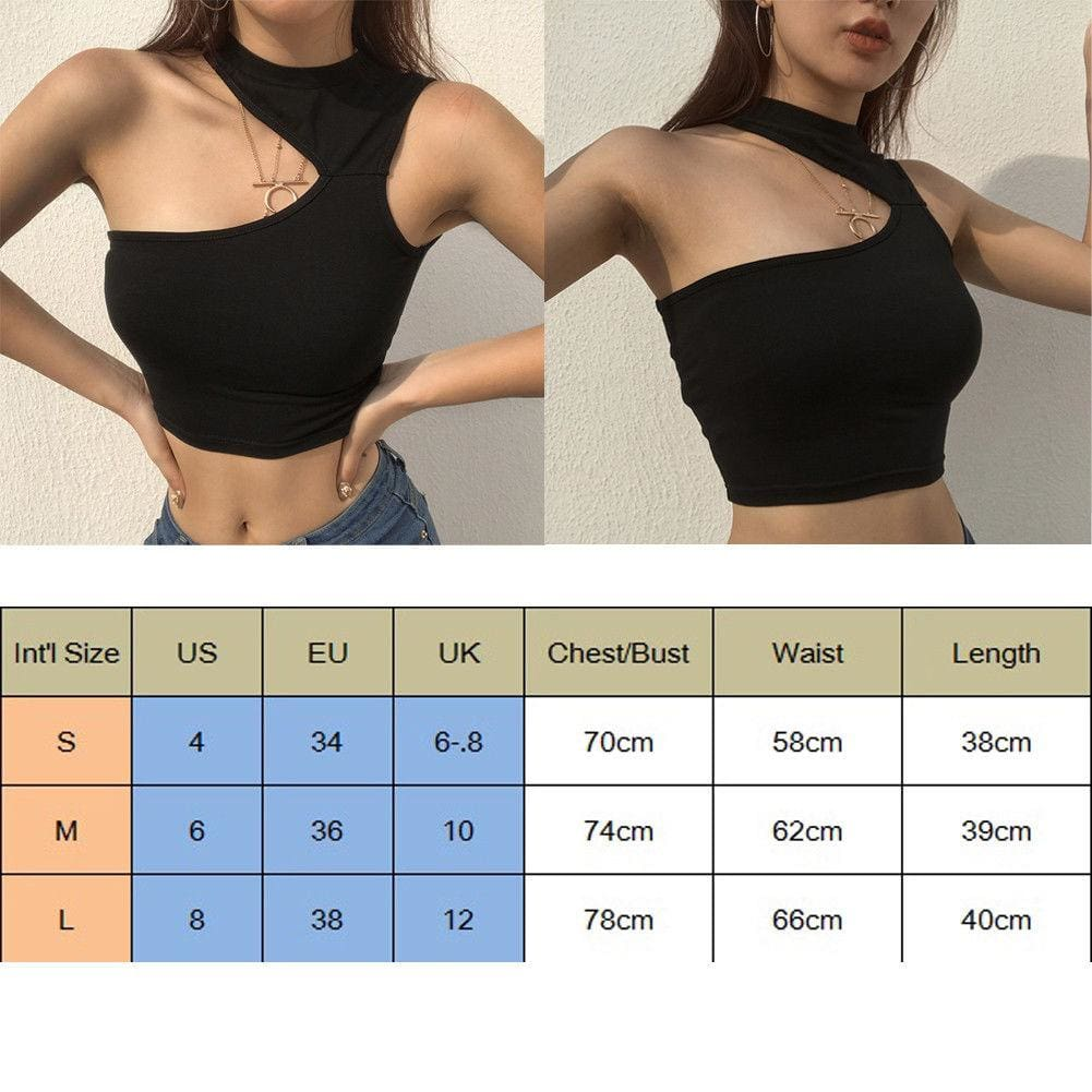 The Best Women Girls Summer Vest Crop Top Shirt Blouse Casual Slim Black Tanks Online - Source Silk