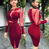 The Best Women Lady Long Sleeve Bandage Bodycon Summer Casual Solid Party Cocktail Club Short Mini Dress Online - Source Silk