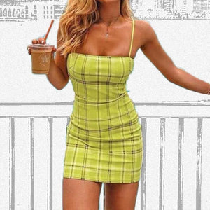 Buy Cheap Women Lattice Strap Sleeveless Summer Stretchy Package Hip Bodycon Holiday Mini Dress Sundress Online - Hplify