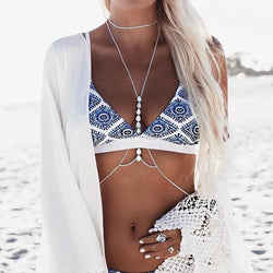 The Best Women Print Swimwear Bandage Bikini Set Push-up Padded Bra Bathing Suit Online - Hplify