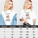 The Best Women Printed Short Sleeve Loose T-Shirts Ladies Summer Casual Tops Shirt Online - Source Silk