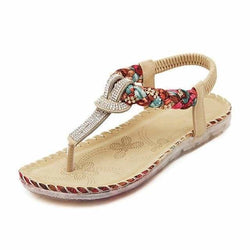 The Best Women Sandals Flat Heels Sandals Crystal Flip Flops Large Size Online - Source Silk