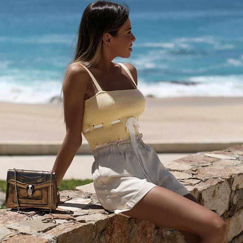 The Best Women Sexy Casual Tank Top Vest Blouse Sleeveless Summer Beach Crop Top Shirt Cami Top Online - Source Silk