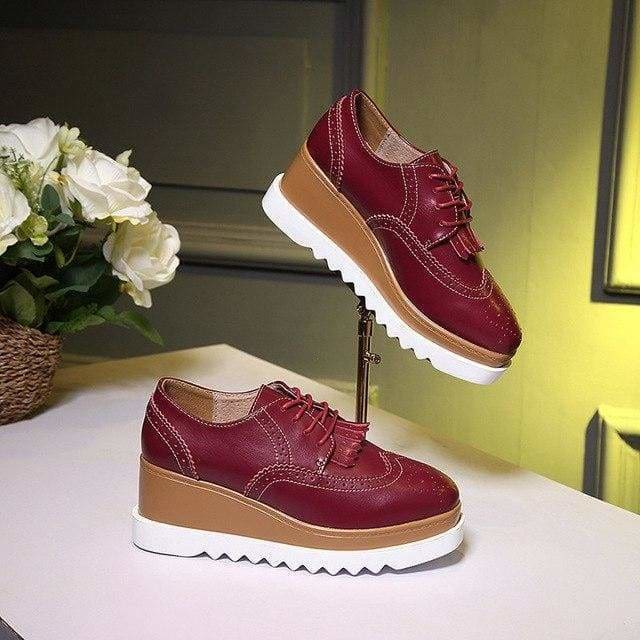 The Best Women Shoes Sneakers Platform Shoes Lace-Up Round Toe Online - Source Silk