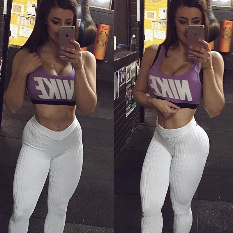 The Best Women Sports Gym Exercise Activewear Bottoms Leggings Skinny Long Pants Online - Hplify