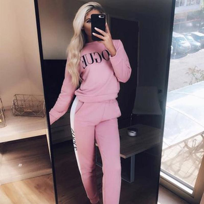 Buy Cheap Women Sweatshirts Ladies Casual VOGUE Print Slouch Pullover Jumper Daily Tops Online - Hplify