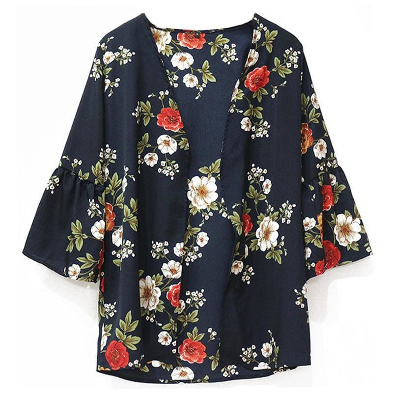 The Best Women Tops Floral Print Blouse Shirt Online - Hplify