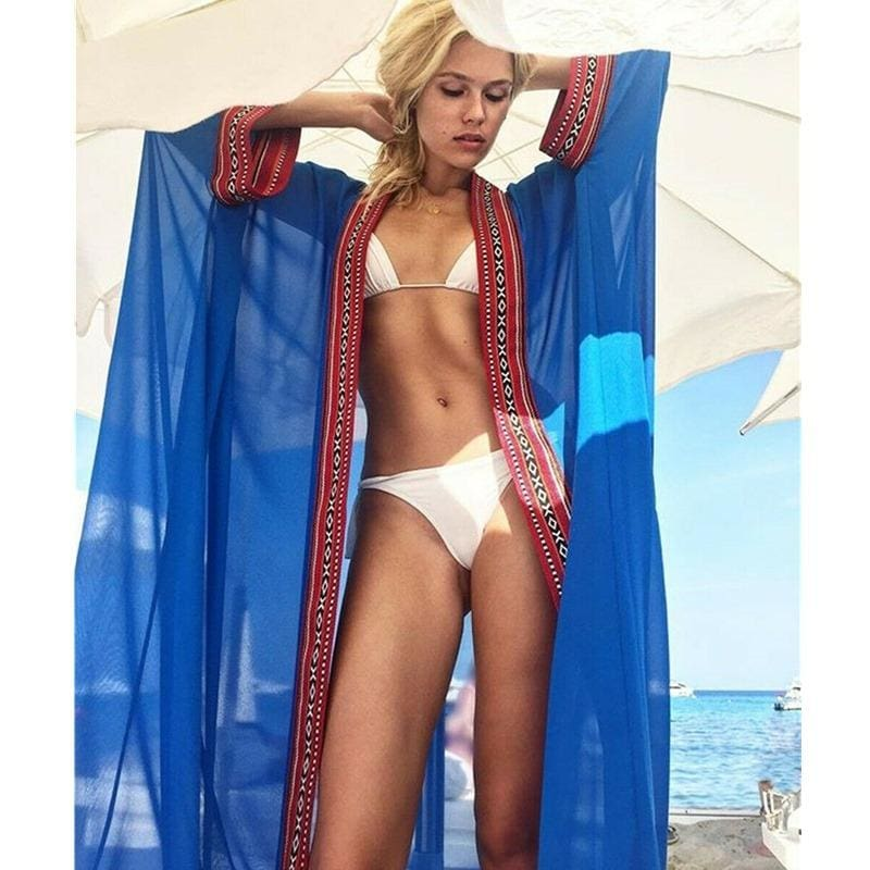 Buy Cheap Women's Bikini Cover Up Swimwear Beach Maxi Wrap Skirt Sarong Kimono Kaftan Summer Dress Online - Hplify