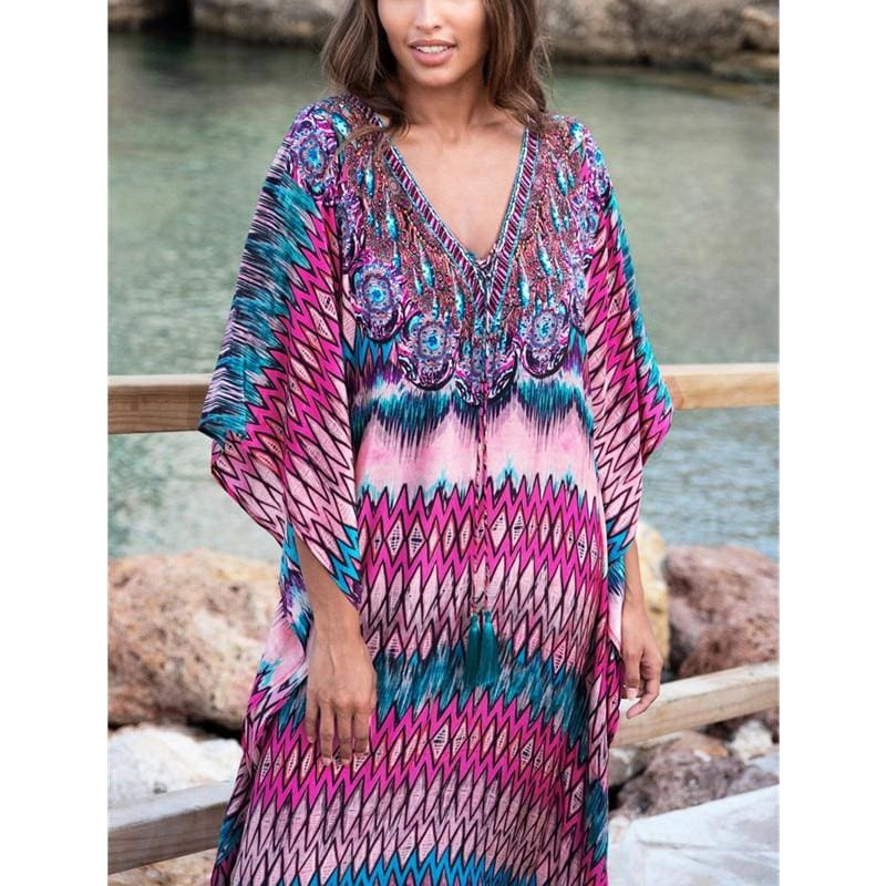 The Best Women's Bikini Cover Up Swimwear Summer Beach Maxi Wrap Skirt Online - Source Silk