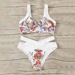 The Best Womens Bikini Set Two-Pieces Push Up Padded Bra Bottom Bandage Swimsuit Online - Hplify