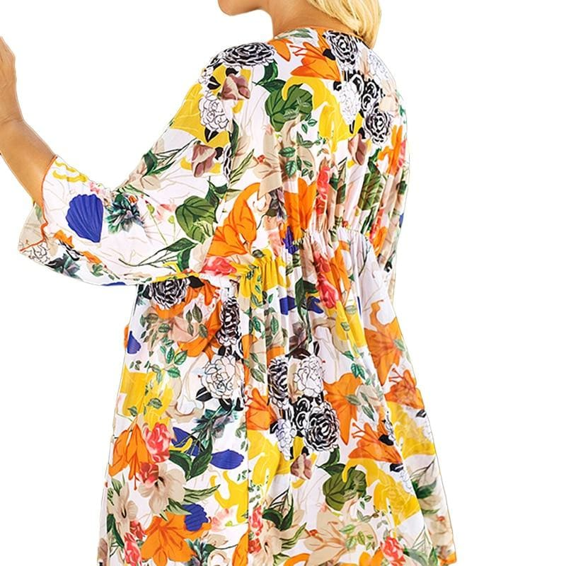Buy Cheap Women's Boho Floral Beach Bikini Cover Up Tunic Summer Beachwear Maxi Dress Online - Hplify