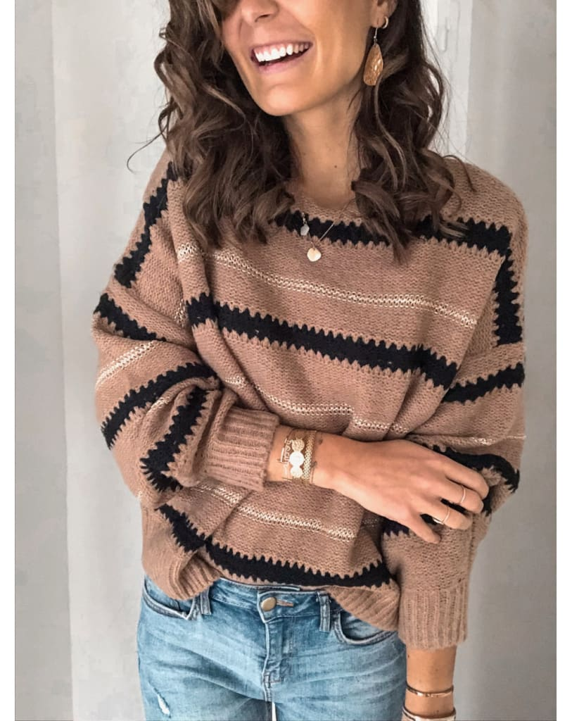 Fashion Women Autumn Winter Knitted Pullover Jumper Sweater Ladies Casual Crew Neck Long Sleeve Knitwear Top