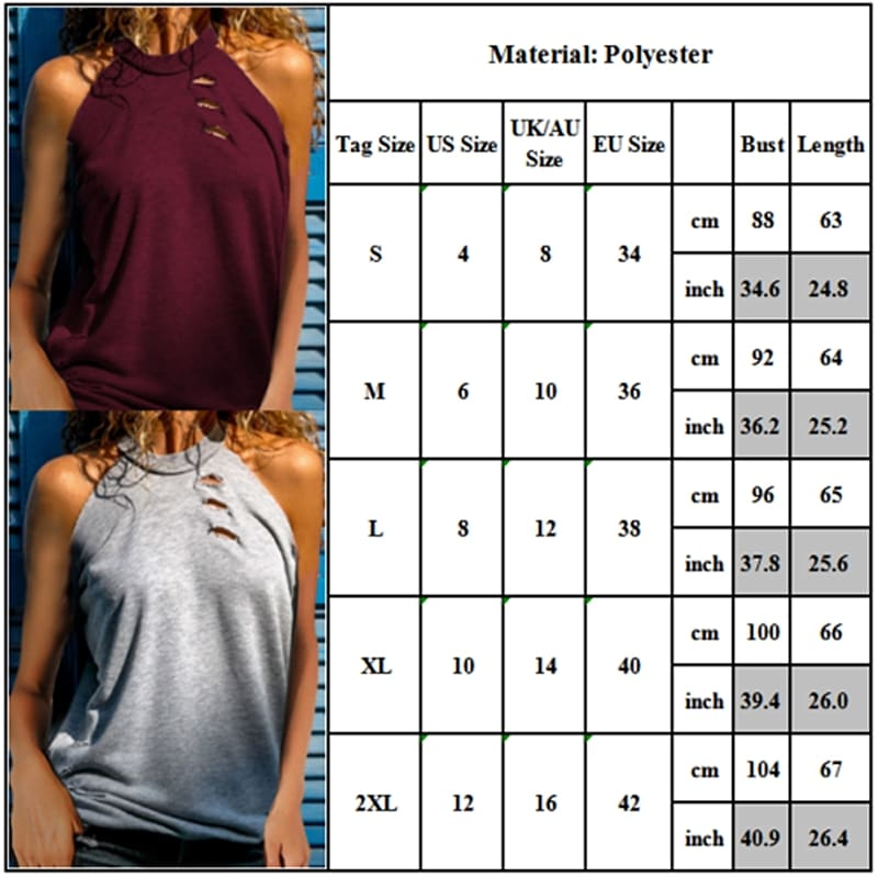 Womens Casual High Neck Sleeveless Tank Top Vest Ladies Summer Solid Loose Blouse Shirt Tee