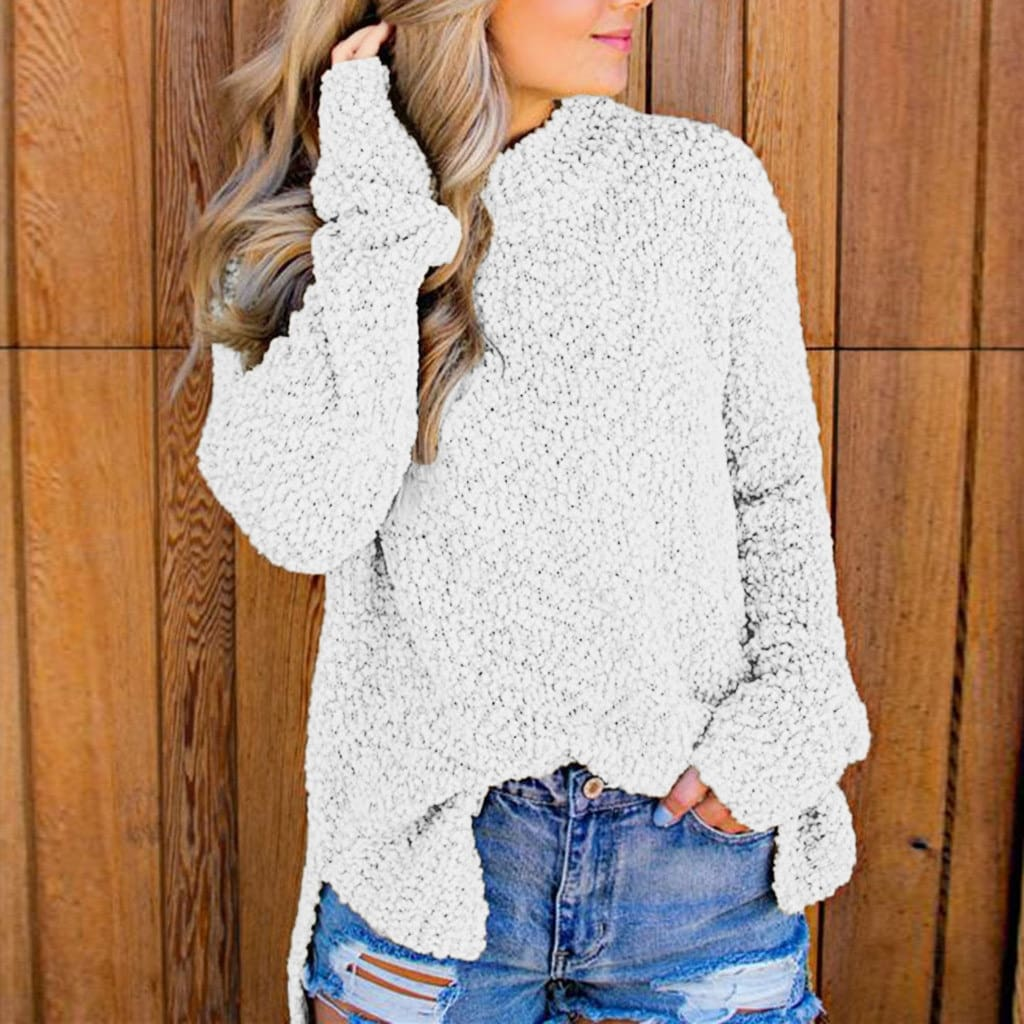 Womens Sweater Casual Full Sleeve Knitted Jacket Jumper Sweater