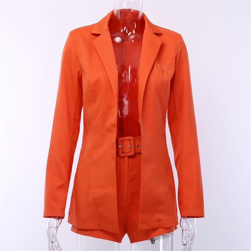 Autumn Elegant British-Style Small Suit Jacket Shorts Suit Women OL Lady Fashion Casual Workout Formal Suit