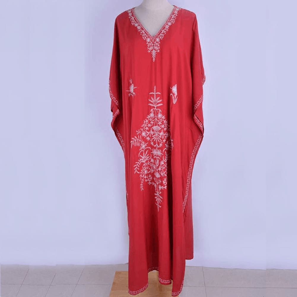 Boho Women Ladies Kaftan Long Dress Women Casual Beach Swimsuit Bikini Cover up Caftan Maxi Gown Sundress